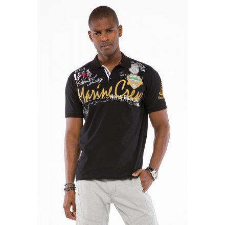 Cipo & Baxx divatos férfi póló CT509black