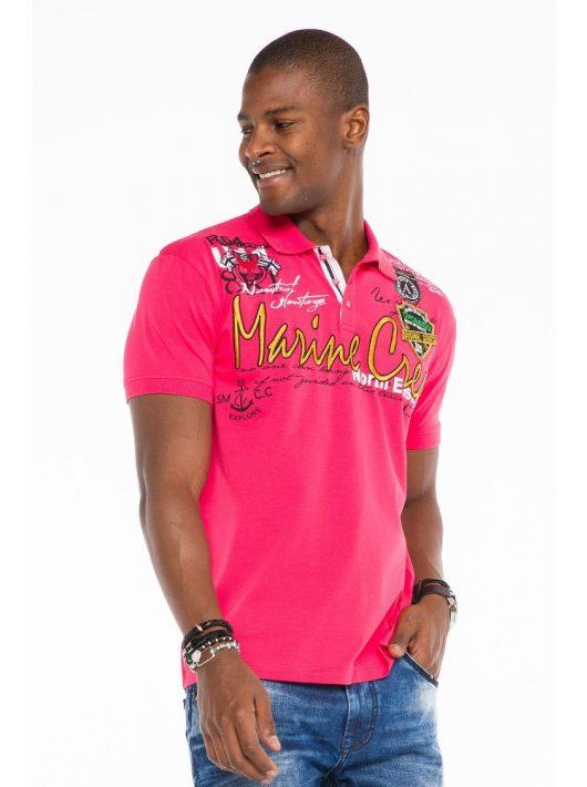 Cipo & Baxx divatos férfi póló CT509fushsia