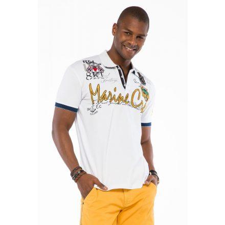 Cipo & Baxx fashionable men's T-shirt CT509white
