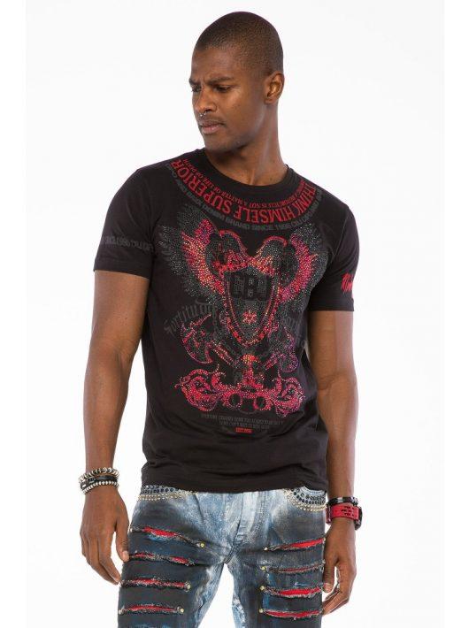 Cipo & Baxx divatos férfi póló CT510black