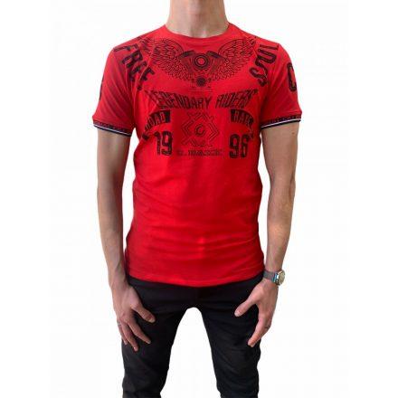 Cipo & Baxx divatos férfi póló CT520 Red