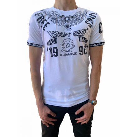 Cipo & Baxx divatos férfi póló CT520 White