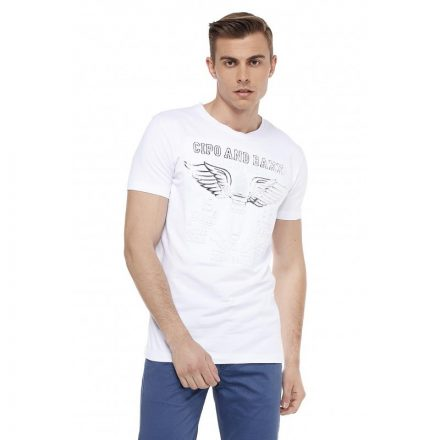 Cipo & Baxx divatos férfi póló ct523white