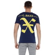 Cipo & Baxx fashionable men's T-shirt CT524navyblue