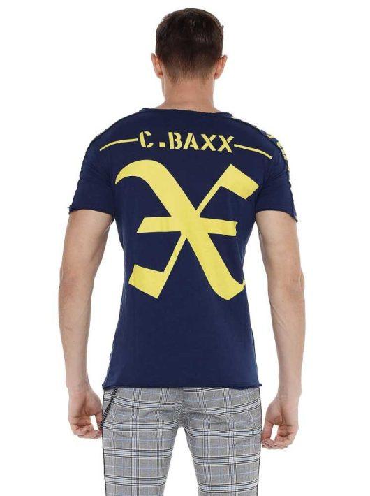 Cipo & Baxx divatos férfi póló CT524navyblue