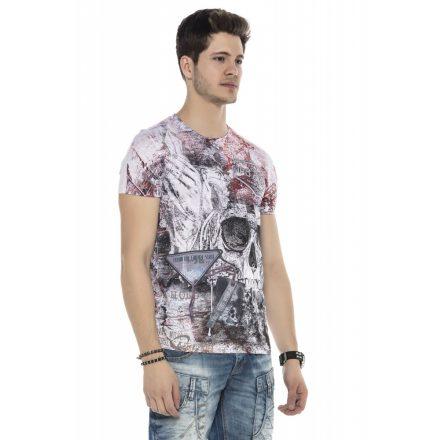 Cipo&Baxx divatos férfi póló CT536WHITE
