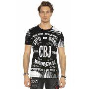Cipo&Baxx divatos férfi póló CT537BLACK
