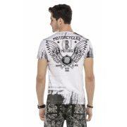 Cipo&Baxx divatos férfi póló CT537WHITE