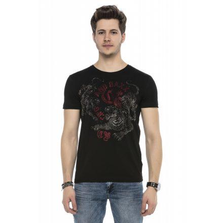 Cipo&Baxx divatos férfi póló CT538BLACK