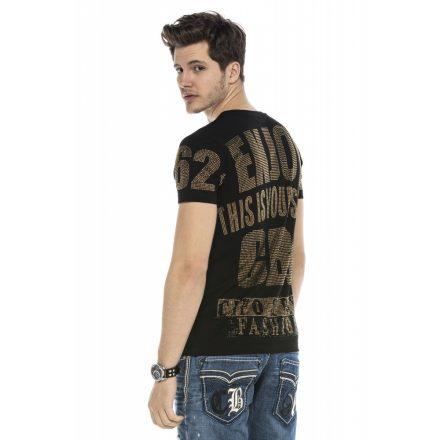 Cipo&Baxx divatos férfi póló CT543BLACK