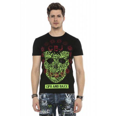 Cipo&Baxx divatos férfi póló CT545 Black
