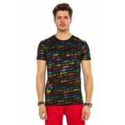 Cipo&Baxx divatos férfi póló CT547BLACK