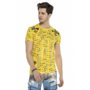 Cipo&Baxx divatos férfi póló CT547YELLOW