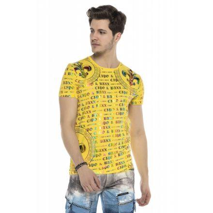 Cipo&Baxx divatos férfi póló CT547 Yellow