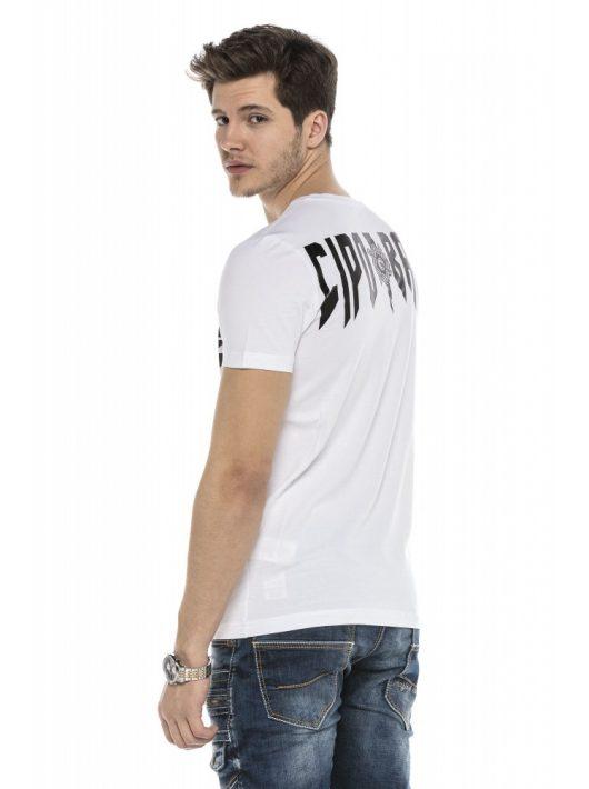 Cipo&Baxx divatos férfi póló CT552WHITE