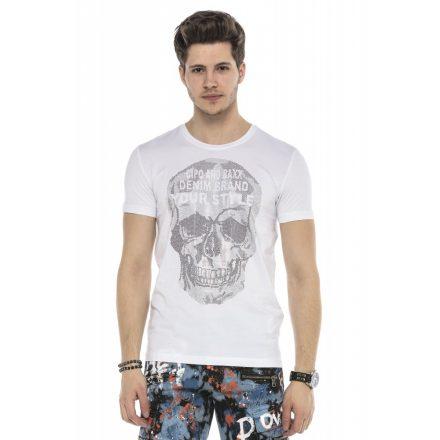 Cipo&Baxx divatos férfi póló CT553WHITE