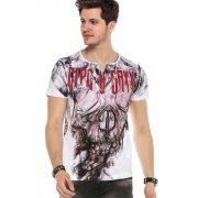 Cipo&Baxx divatos férfi póló CT559WHITE