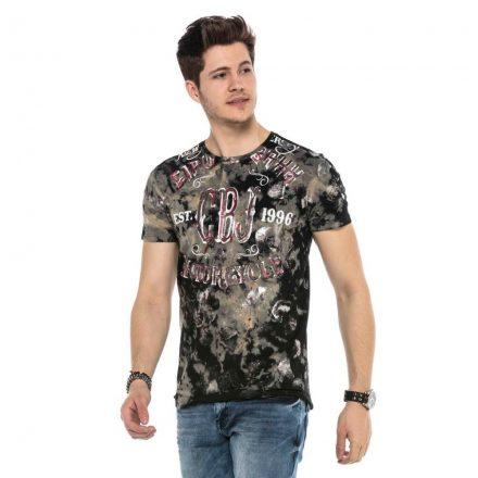 Cipo&Baxx divatos férfi póló CT560BLACK