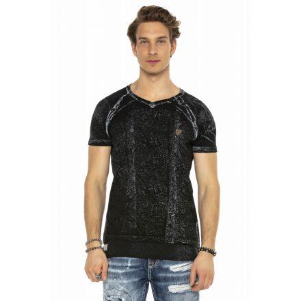 Cipo&Baxx divatos férfi póló CT561BLACK