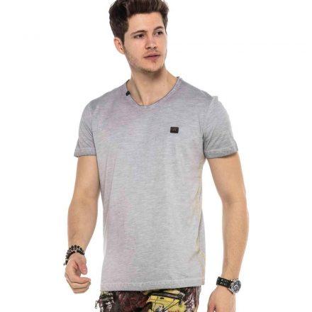 Cipo&Baxx divatos férfi póló CT564GREY