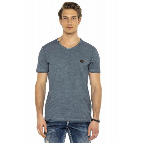 Cipo&Baxx divatos férfi póló CT564INDIGO
