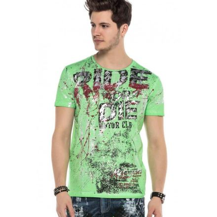 Cipo&Baxx divatos férfi póló CT566NEONGREEN