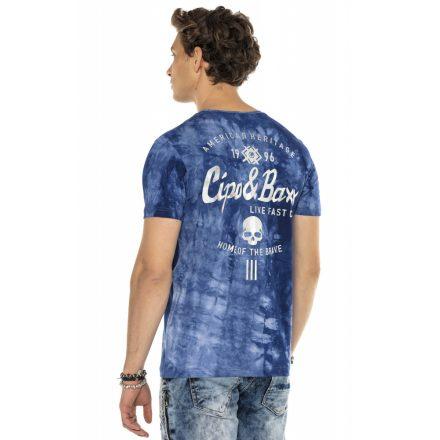 Cipo&Baxx divatos férfi póló CT570BLUE