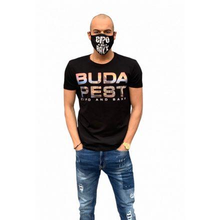 Cipo&Baxx divatos férfi póló CT572BLACK