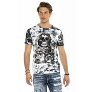 Cipo&Baxx divatos férfi póló CT575WHITE