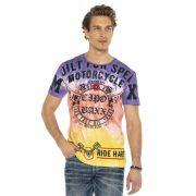 Cipo&Baxx divatos férfi póló CT580PURPLE