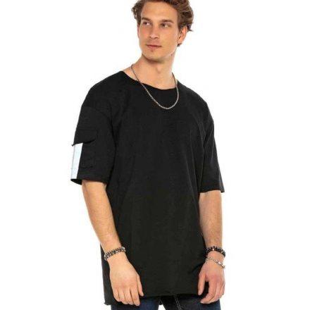 Cipo & Baxx divatos férfi póló CT586BLACK