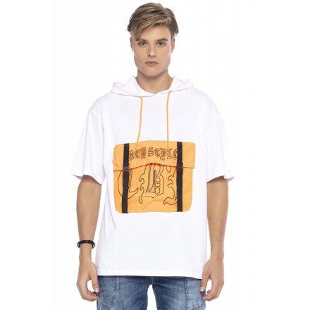 Cipo & Baxx divatos férfi póló CT588WHITE