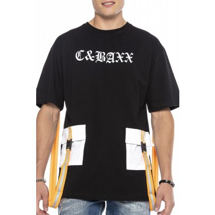 Cipo&Baxx férfi póló CT589BLACK