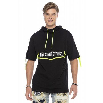 Cipo&baxx divatos férfi póló CT590BLACK