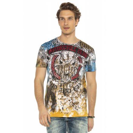 Cipo&Baxx divatos férfi póló CT591BROWN