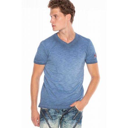 Cipo&baxx divatos férfi póló CT596INDIGO