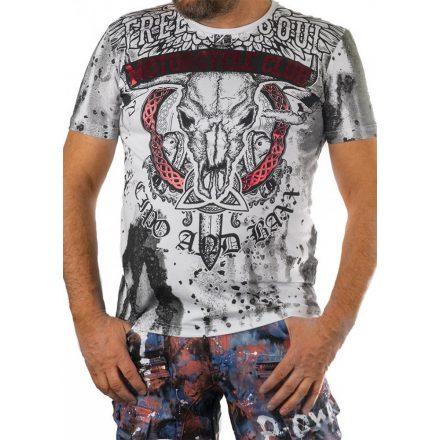 Cipo&Baxx divatos férfi póló CT599WHITE