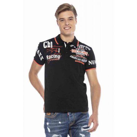 Cipo & Baxx divatos férfi póló CT603 Black