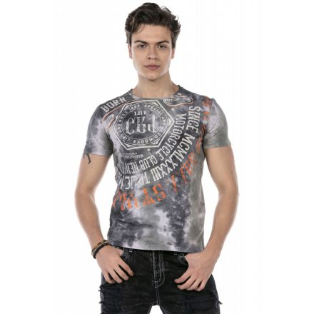 Cipo & Baxx divatos férfi póló CT614 Anthracite