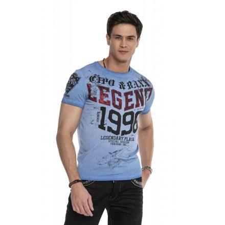 Cipo & Baxx divatos férfi póló CT616 Blue