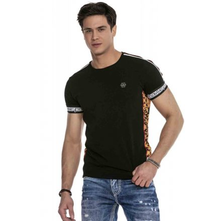 Cipo & Baxx divatos férfi póló CT622 Black