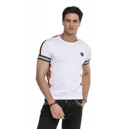 Cipo & Baxx divatos férfi póló CT622 White