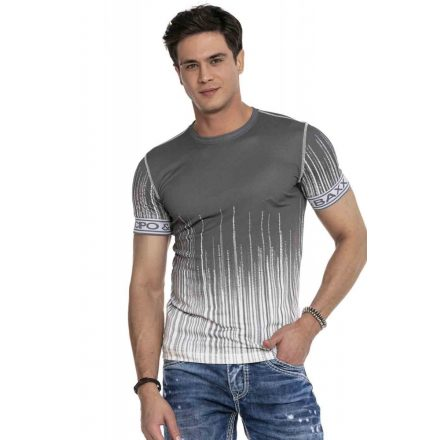 Cipo & Baxx divatos férfi póló CT630 Anthracite
