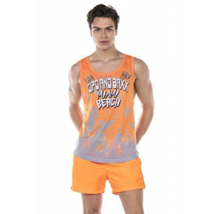 Cipo & Baxx divatos férfi strand szett CUK245 Orange