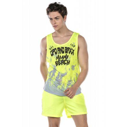 Cipo & Baxx divatos férfi strand szett CUK245 Yellow