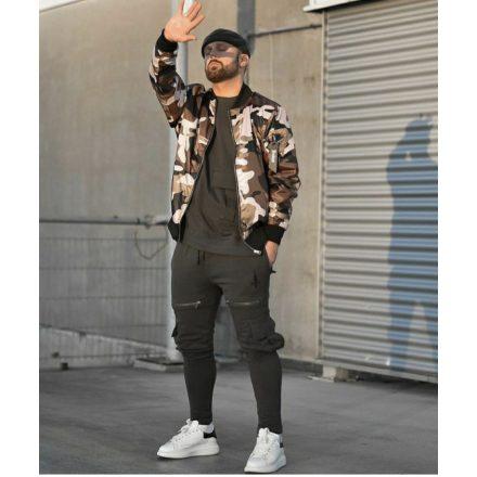 Cipo & Baxx men's wind jacket M6030_CAMOUFLAGE_KHAKI