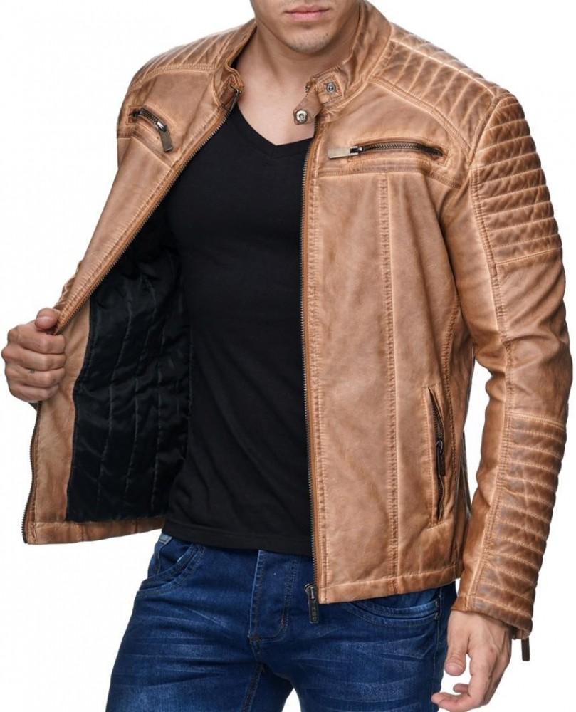 Férfi műbőr kabát M6037 CAMEL - Cipo Baxx Denim Brand - Kabátok ... 6ee577cf29