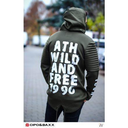 Divatos keki kabát M6042KHAKI