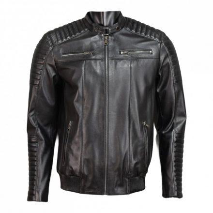 Waku-Genuine Leather Jacket WB104black