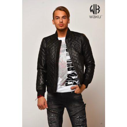 Waku-Genuine Leather Jacket WB105black
